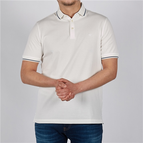 Marco Capelli White - Soft Cotton Polo With Contrast Tipping 1