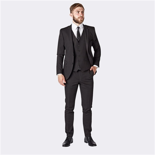 Marco Capelli Black - Slim Fit Suit Jacket  - Click to view a larger image