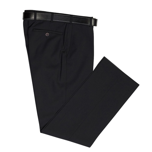Marco Capelli Black - Classic Regular Fit Trousers  - Click to view a larger image