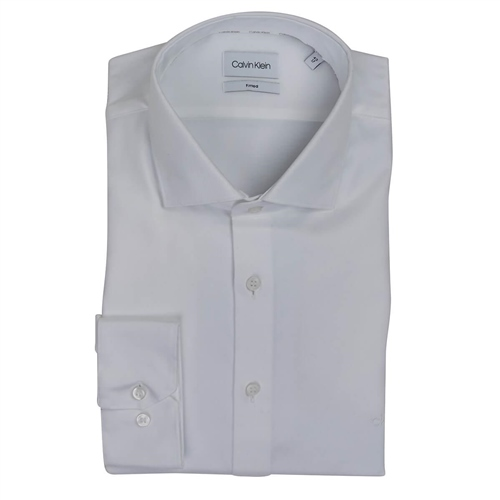Calvin Klein White - Twill Easy Iron Fitted Shirt  - Click to view a larger image