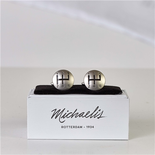Michaelis Silver - Gear Shift Cufflinks  - Click to view a larger image