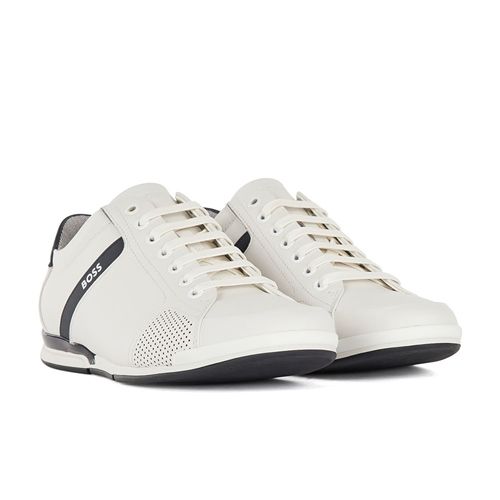 Hugo Boss White - Saturn Low Sneaker  - Click to view a larger image