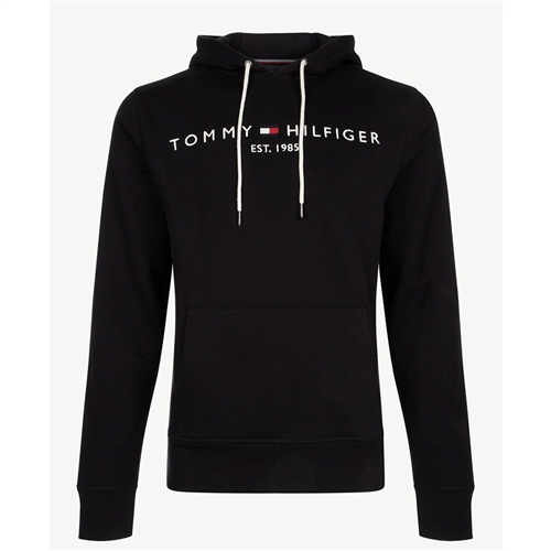 Tommy Hilfiger Black - Flex Fleece Logo Hoodie  - Click to view a larger image