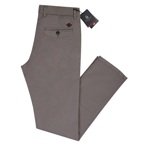 Marco Capelli Grey - Modern Slim Fit Chinos  - Click to view a larger image