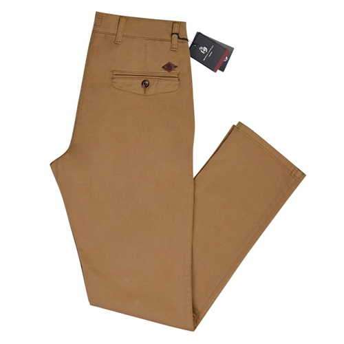 Marco Capelli Camel - Modern Slim Fit Chinos  - Click to view a larger image