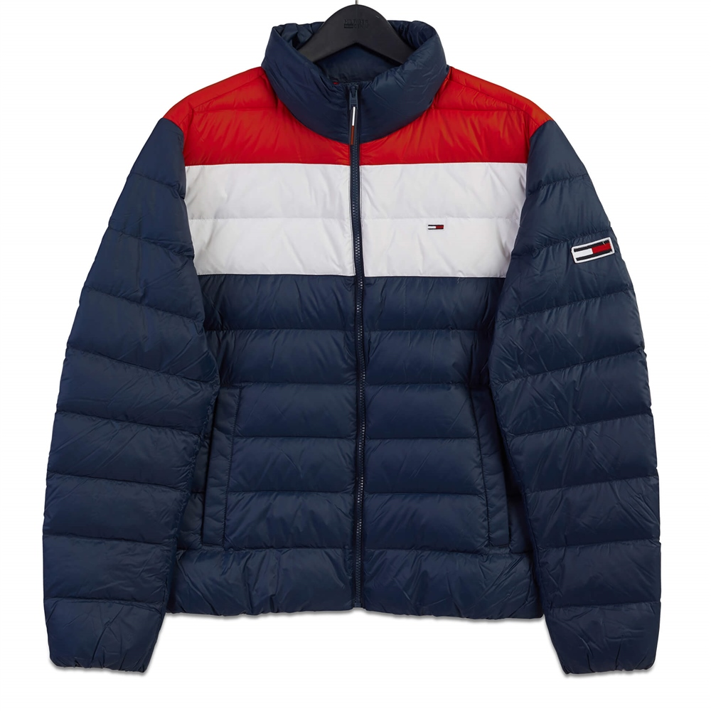 Tommy Jeans Navy - Colorblock Light Down Jacket 1