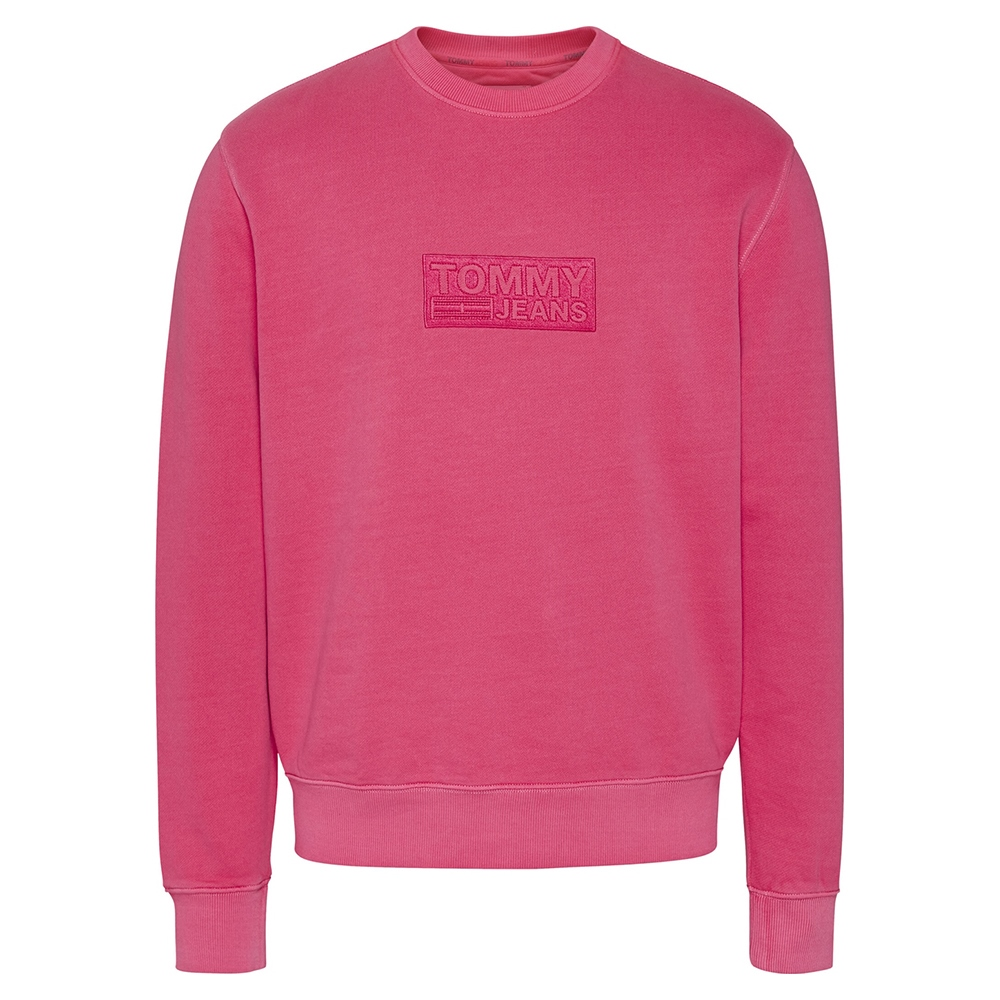 Tommy Jeans Pink - Tommy Tonal Corporate Logo Crew Neck Rf Sweatshirt 1